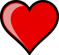 heart with black outline transparent
